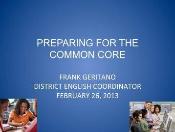 ELA CCLS Update 2013 - Sewanhaka Central High School District