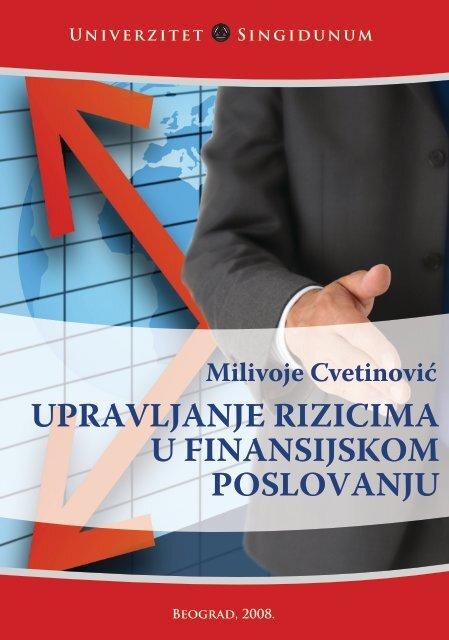 upravljanje rizicima u finansijskom poslovanju - SINGIPEDIA