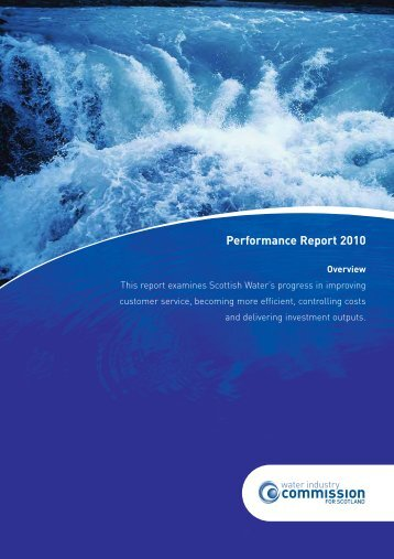 Performance Report 2010 - Water Industry Commission for Scotland