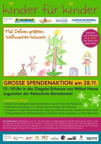 GROSSE SPENDENAKTION am 28.11. - Tumultus