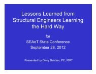 Lessons Learned from Lessons Learned from Structural ... - SEAoT