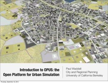 OPUS - UrbanSim