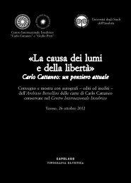 La causa dei lumi e delle libertà – Carlo Cattaneo - Società italiana ...