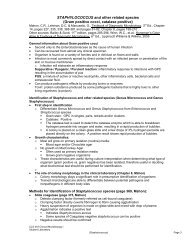 STAPHYLOCOCCUS and other related species (Gram positive cocci ...
