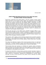 Draft press-release on the results of the EU wide stress testing ...
