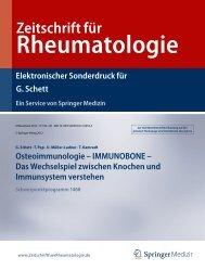 Zeitschrift für Rheumatologie - Immunobone