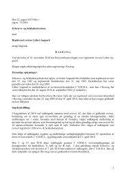 Den 22. august 2011 blev i sag nr. 73/2010 ... - Revisornævnet