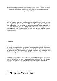 Studienordnung - Institut für Pädagogik - Christian-Albrechts ...