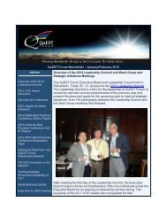 QuEST Forum Newsletter - January/February 2012 Overview of the ...