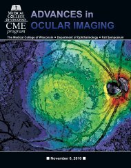 Advances in Ocular Imaging - Medical College of Wisconsin