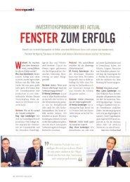 FENSTER ZUM ERFOLG - Actual