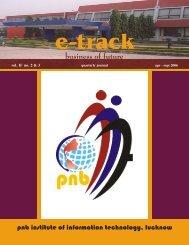 Final 31.01.07 E-Track Apr-Sep - Punjab National Bank Institute of ...