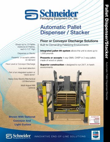 Automatic Pallet Dispenser / Stacker