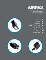 Snapak® Series - Airpax - Sensata