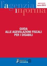 Guida alle agevolazioni fiscali per i disabili - Agenzia delle Entrate