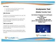 Urodynamic Test Brochure - Physician