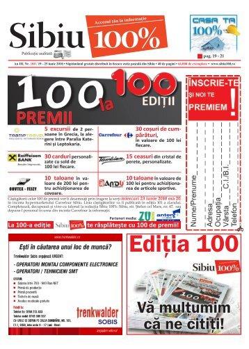 30 coşuri de cum - Sibiu 100