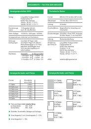 Anzeigenpreisliste 2005 Technische Daten Anzeigenformate und ...