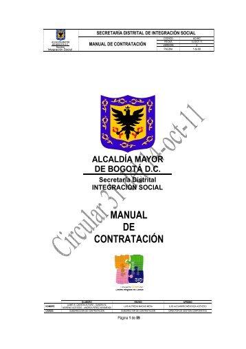 MANUAL DE CONTRATACIÓN - Página principal - Secretaria ...