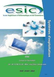 Systèmes d'exploitation - Groupe ESIC