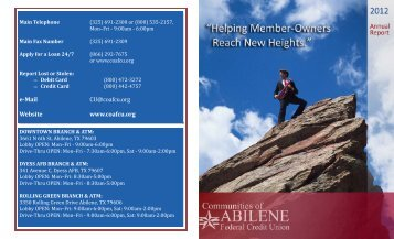Annual Report - Communities of Abilene Federal Credit Union