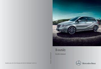 Mercedes-Benz B-osztály kezelési útmutató letöltése (PDF)