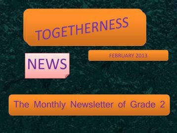 The Monthly Newsletter of Grade 2 - JSS Private School