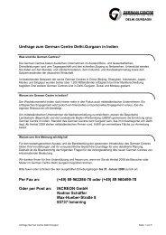 Umfrage zum German Centre Delhi.Gurgaon in ... - German Centres