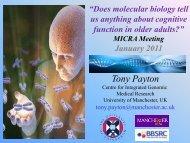 Tony Payton - Institute of Health Sciences