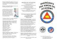 School Brochure.pub - Sheroan's Tae Kwon Do