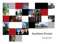 Acadiana Kiwanis - Lafayette Economic Development Authority