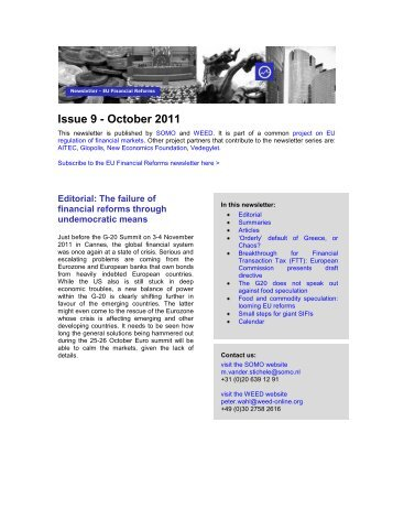 Issue 9 - October 2011 - Ander Europa