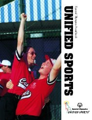 Special Olympics Unified Sports Handbook