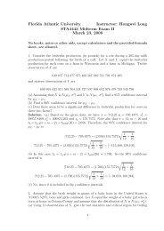 Hongwei Long STA4443 Midterm Exam II March 23, 2009