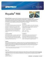 Royalite R66 - Spartech Corporation
