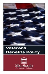 Veterans Policy Handbook - Mid South Community College