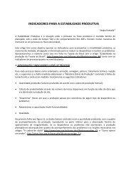 indicadores para a estabilidade produtiva - Lean Institute Brasil