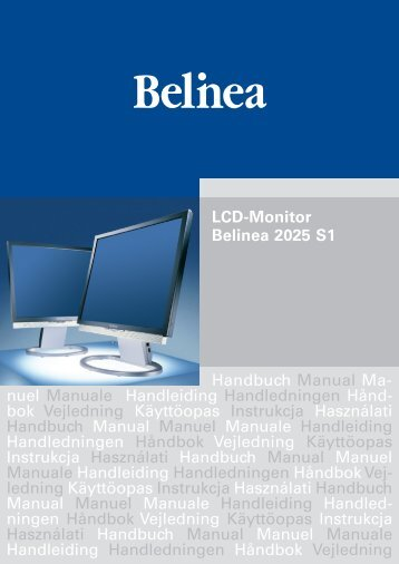LCD-Monitor Belinea 2025 S1 Handbuch Manual Ma ... - ECT GmbH