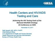 Dr. Seiji Hayashi, Chief Medical Officer, Bureau ... - The AIDS Institute