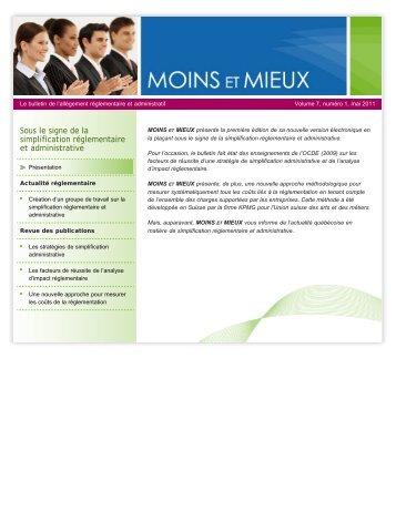 Volume 7, numéro 1 – Mai 2011 - Finances