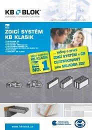 ZDICÍ SYSTÉM KB KLASIK - KB - BLOK systém, sro
