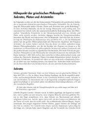 Höhepunkt der griechischen Philosophie – Sokrates, Platon und ...