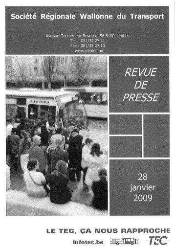 Page 1 Page 2 Sujets Radio et TV (du 26/01/O9 au 28/01/09) 28/01 ...