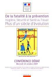 conférence débat 2009 (pdf - 1.9 Mo) - Ministère du Travail, de l ...