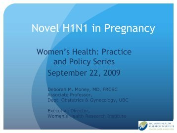 Novel H1N1 in Pregnancy