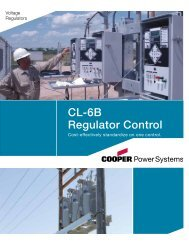 CL-6B Regulator Control - Cooper Industries