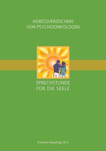 Innenteil Adressverzeichnis 1.Quartal 2013.indd - Onkologische ...