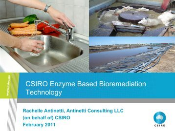 CSIRO Enzyme Based Bioremediation Technology - The Pesticide ...