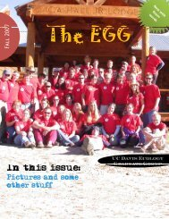 EGG Fall 2007   Issue 1 - Graduate Group in Ecology - UC Davis