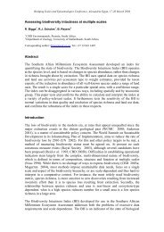 Assessing biodiversity intactness at multiple scales ... - ResearchGate